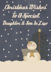 Weihnachtswünsche Tochter.Weihnachten Für Tochter Und Schwiegersohn Geschenke Zazzle Ch