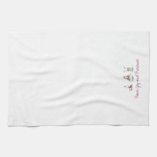 Weihnachtsyoga-Schneemann-Geschirrtuch Handtuch