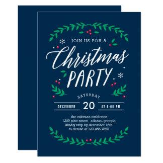 Weihnachtszeit EDITABLE FARBEParty Einladung