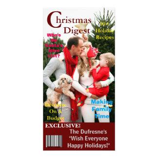 Weihnachtszeitschriften-Abdeckung Schablone Karte