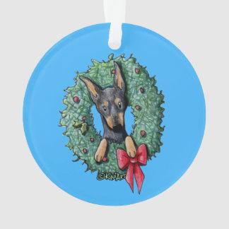 WeihnachtsZwergpinscher Ornament