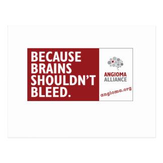 Weil Gehirne nicht bluten sollten Postkarte