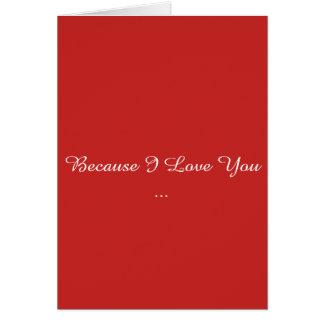 Weil i-Liebe Sie Karte