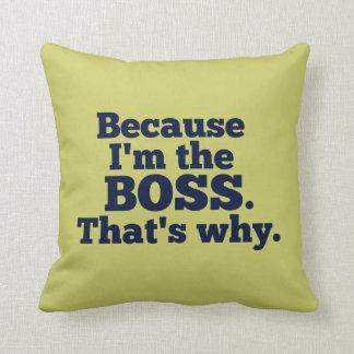Weil ich der Chef bin, ist der warum Kissen