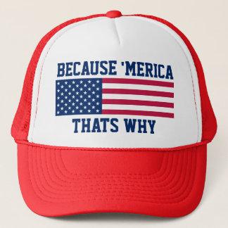 Weil 'Meria deshalb amerikanische Flagge Truckerkappe