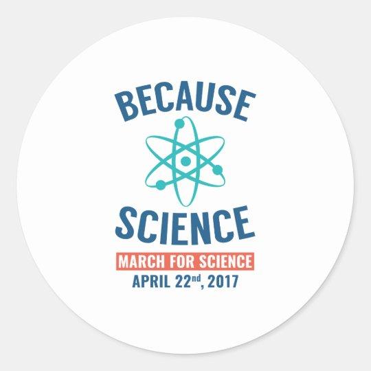 Weil Wissenschaft Runder Aufkleber