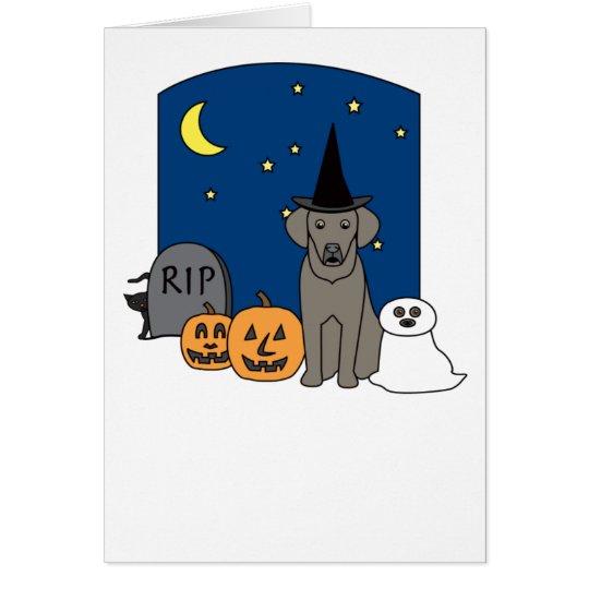 Weimaraner Halloween Grußkarte