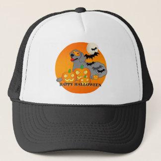 Weimaraner Hund Halloween Truckerkappe