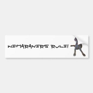 Weimaraners Regel! Autoaufkleber