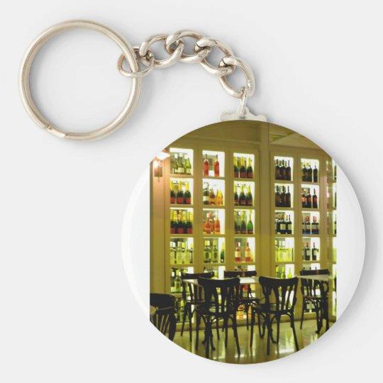 Wein-Bar Standard Runder Schlüsselanhänger