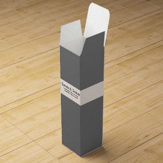 Wein-Geschenkboxen-Fülle mit Text-Schablone Weinbox