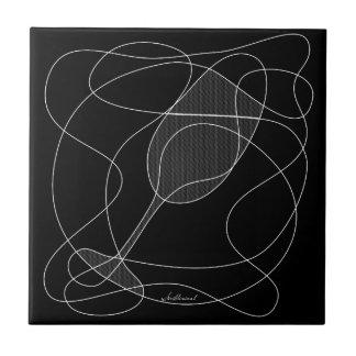 Wein-Glas-Gekritzel-Kunst Keramikfliese