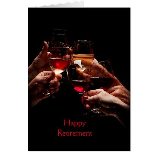Wein-Glas-Ruhestands-Gruß-Karte Grußkarte