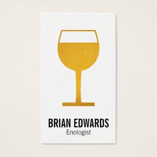 Wein-Glas | voll (Gelb) Visitenkarte