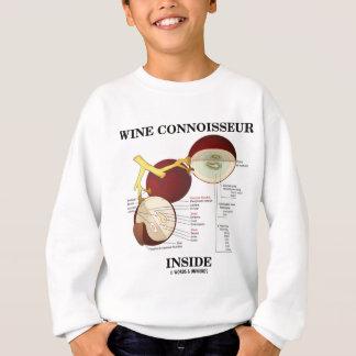 Wein-Kenner-Innere (Weintraube-Beere) Sweatshirt