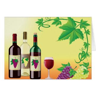 Wein mit Trauben-Mitteilungskarten Karte