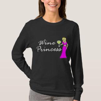 Wein-Prinzessin königlich dunkler T - Shirt