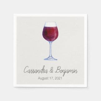 Wein-Probieren-Party-oder Serviette