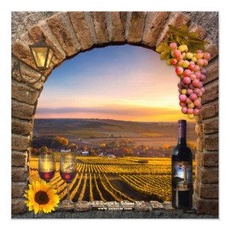 Wein-Probieren-Ruhestands-Party Einladung