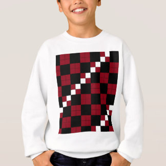 Wein-Rot-und Schwarz-Schachbrett-nobler Entwurf Sweatshirt