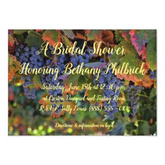 Wein-Themed Weinberg-Brautparty-Einladung Karte