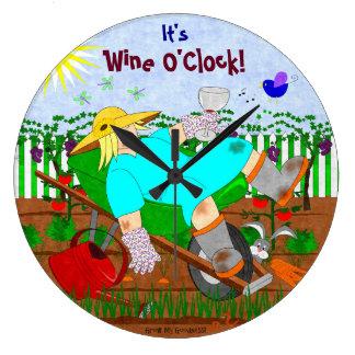 Wein-Uhr im Garten Große Wanduhr