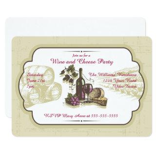 Wein-und Käse-Party Karte