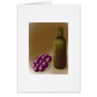 Wein und Trauben Notecard Karte