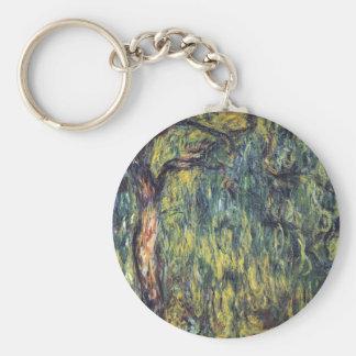 Weinende Weide durch Claude Monet, Vintage feine Schlüsselanhänger