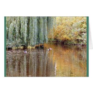 Weinende Weide-Reflexion Grußkarte