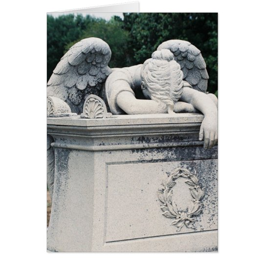 Weinender Engel Grußkarte