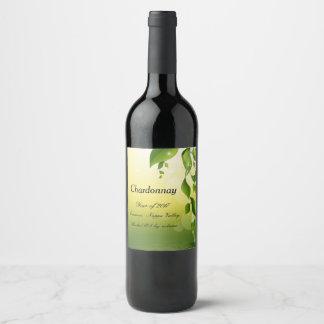 Weinflaschenaufkleber der Blumennatur Weinetikett