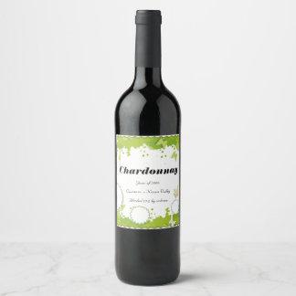 Weinflaschenaufkleber der grünen Natur Weinetikett