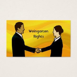 Weingarten Rechte Visitenkarte