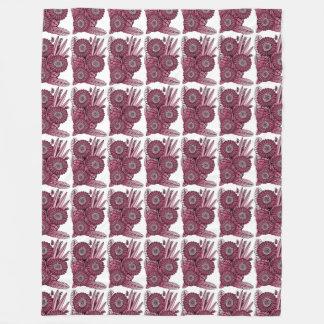 Weingerbera-Gänseblümchen-Blumen-Blumenstrauß Fleecedecke