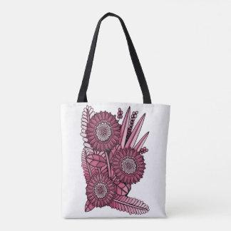 Weingerbera-Gänseblümchen-Blumen-Blumenstrauß Tasche