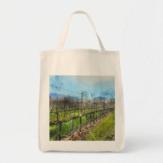 Weinstöcke in Folge in Napa Valley Kalifornien Tragetasche