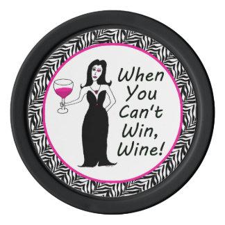 WeinVixen, wenn Sie nicht gewinnen können, Wine Poker Chips Sets