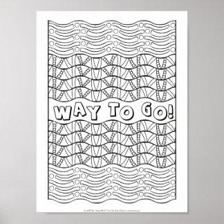 Weise der OrnaMENTALs-#0161, zu gehen Farbe Ihre Poster