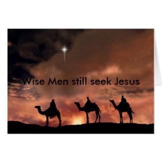 Weise Männer suchen noch Jesus Karte