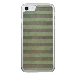 Weises Grün und graues Streifen-Muster Carved iPhone 8/7 Hülle