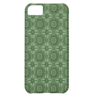 Weises Grün-Vintages geometrisches Blumenmuster iPhone 5C Hülle