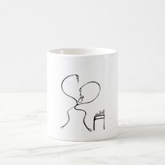 Weiß 325-ml-klassische weiße Tasse. Typ-Putzen Kaffeetasse