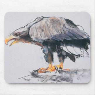 Weiß angebundenes Meer Eagle 2001 Mousepad