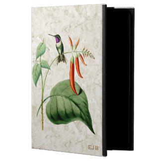 Weiß aufgeblähtes Woodstar Kolibri-iPad Air ケース