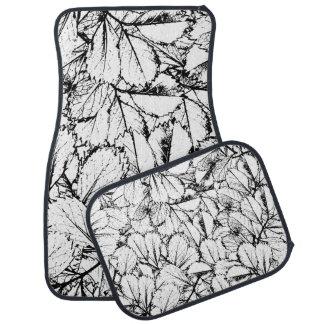 Weiß-Blätter Automatte