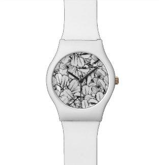Weiß-Blätter Uhr