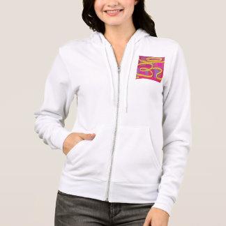 WEISS: Fleece-ZipHoodie der Frauen Flex  + Farben Hoodie
