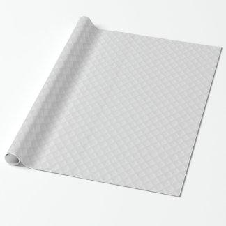 Weiß gestepptes Leder Geschenkpapier