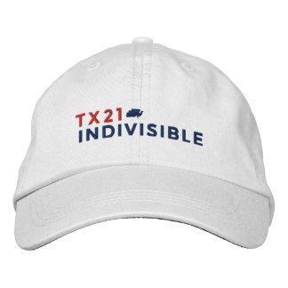 Weiß-justierbare Kappe gestickt mit Logo